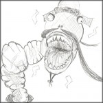 Mythical Beast Wars - Mongolian Death Worm drawing