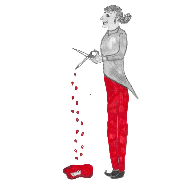 the Great Long Red egged Scissor Man Entry # 7