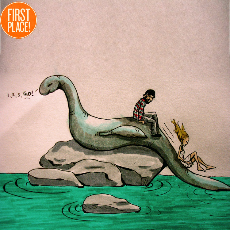 the First Place Loch Ness Monster Entry