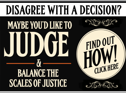 Maybe You'd Like to Judge?