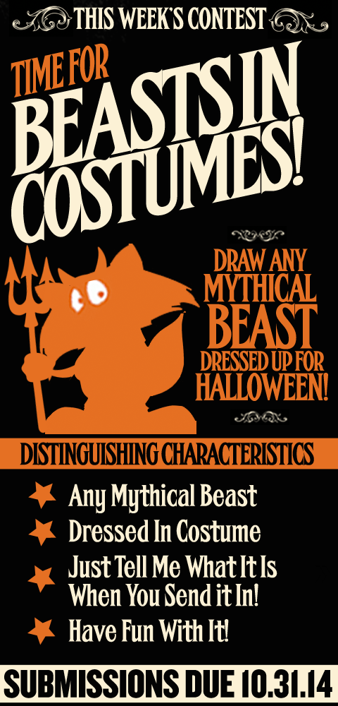 this Week's Contest - Beasts In Costumes
