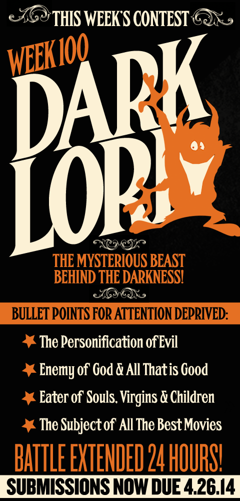 this Week's Contest - The Dark Lord