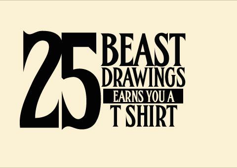 25 drawings Earns A shirt