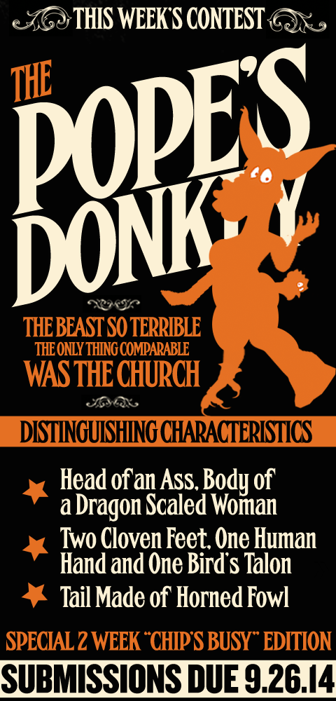 this Week's Contest - The Pope's Donkey