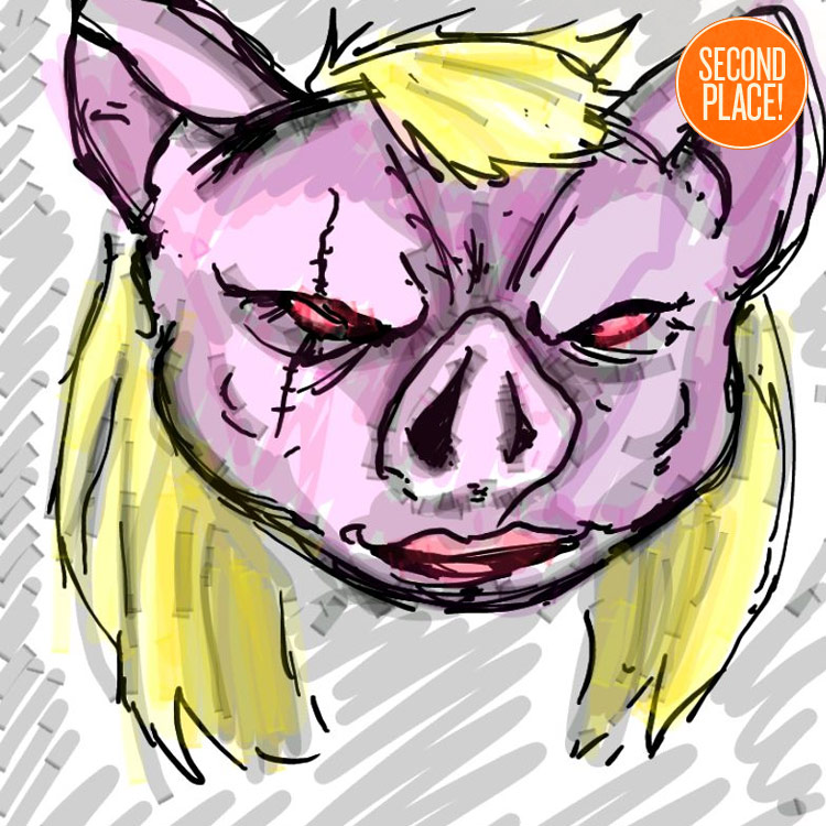 The Second Place PIg Faced Women Entry