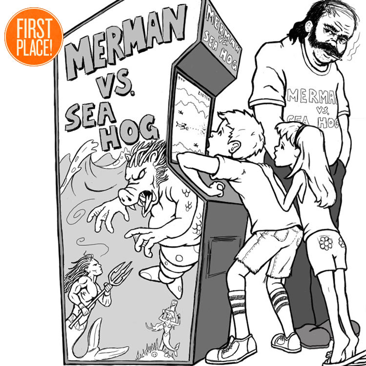 the First Place Merman Vs Sea Hog Entry