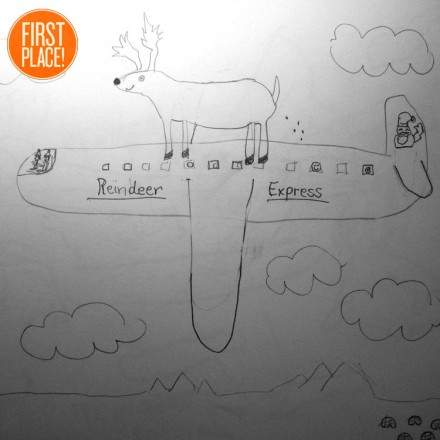 The First Place Flying Reindeer Entry