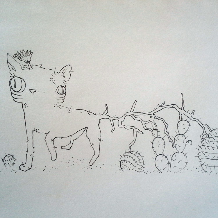 The Cactus Cat - Drawing # 23