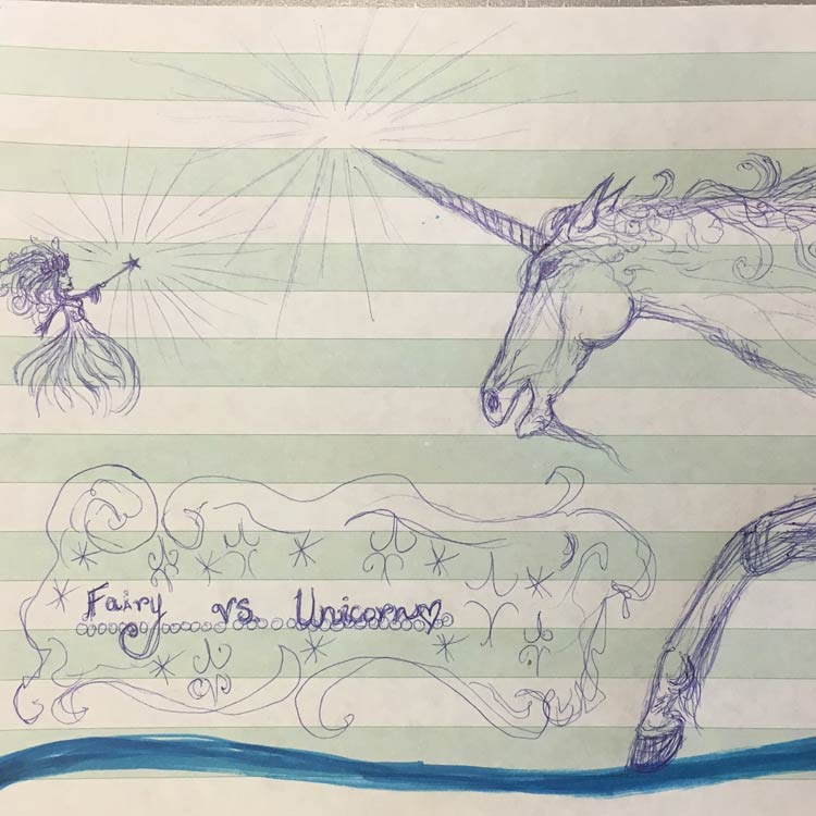 Fairy Vs Unicorn Drawing # 10