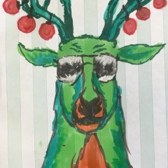 The Flying Reindeer Drawing # 20