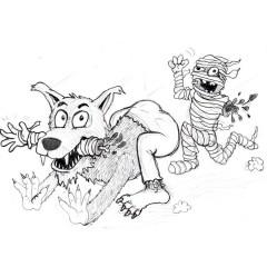 The Werewolf VS The Mummy Entry # 2