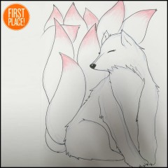 the first place kitsune drawing