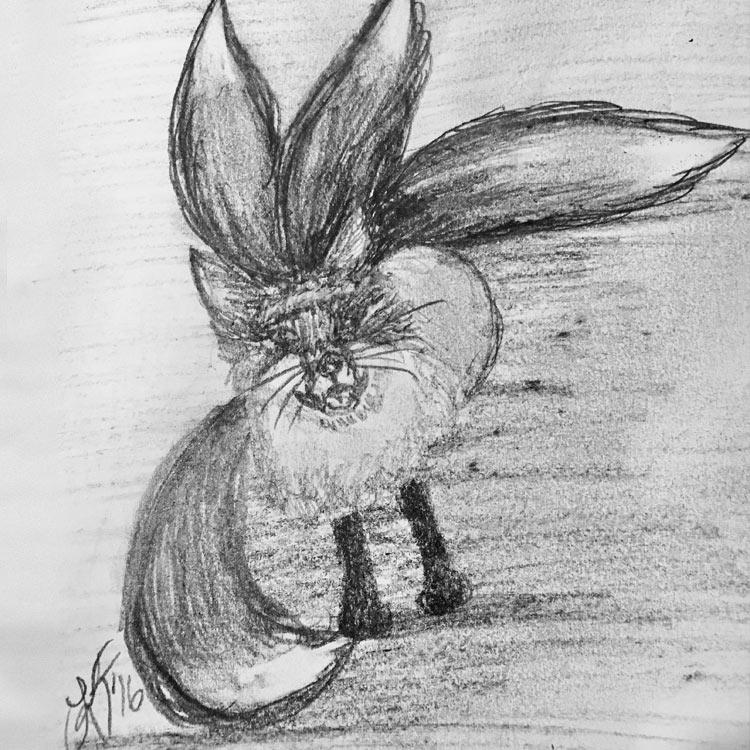 The Kitsune Drawing # 28