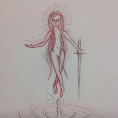 The Lady of the Lake Drawing # 9
