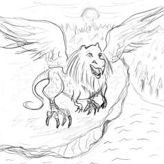 The Piasa Bird Drawing # 15